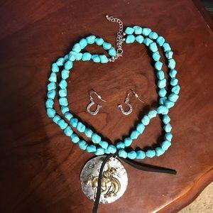 Western necklace w/earrings